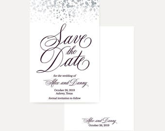 Printable Save The Date Wedding Invitations, Save The Dates Template Printable, Save The Date Cards Email, Save The Dates Online Templates