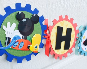 Mickey Mouse Clubhouse banner , Mickey Clubhouse birthday banner , Mickey Mouse banner