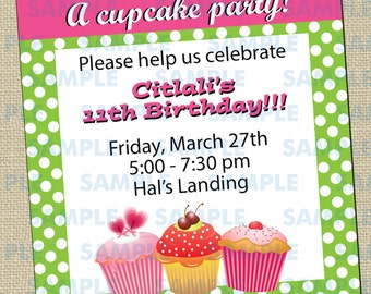 Cupcake Decorating Party Invitations 1