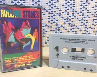The Rolling Stones - Dirty Work - Cassette tape - Rolling Stones Records