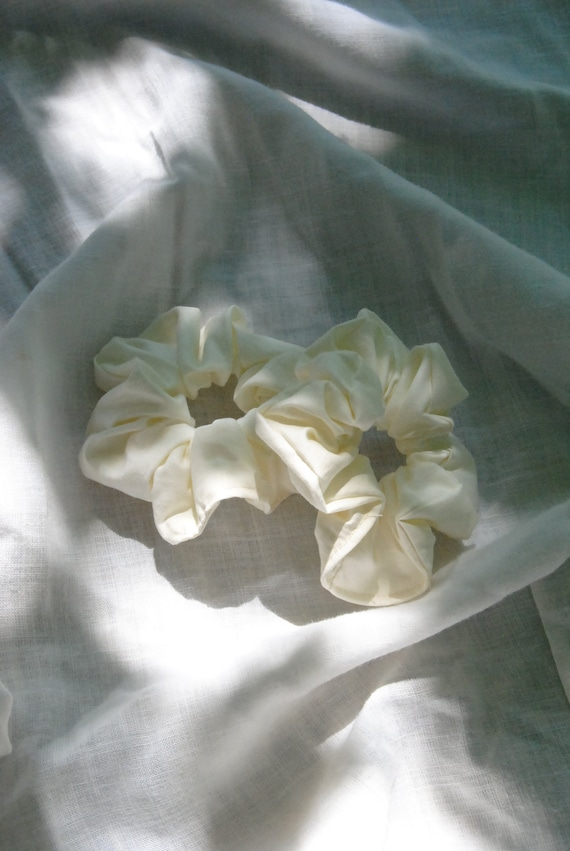 Ivory Hair Scrunchie  |  Add-on Item