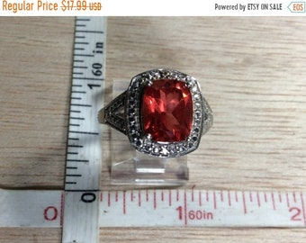 10%OFF3DAYSALE Vintage 925 Sterling Silver 4.9g Watermelon Cz Ring Size 7 Used