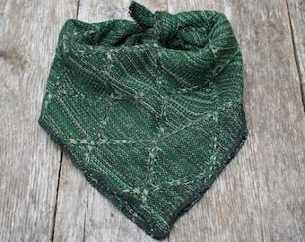 Cozy Green Sweater Dog Bandana