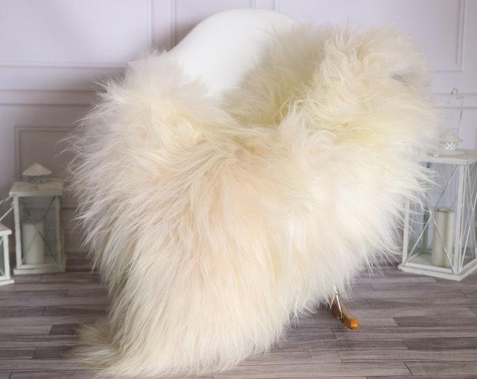 Icelandic Sheepskin | Real Sheepskin Rug |  Super Large Sheepskin Rug Ivory | Fur Rug | Homedecor #MIHISL27
