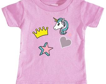 Unicorn Icon Toddler T-shirt (Pink)
