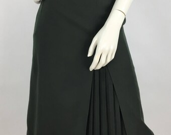 1960's wool midi skirt made in italy size small