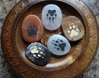WOLF PAW Gemstone Animal Spirit Totem for Spiritual Jewelry or Crafts