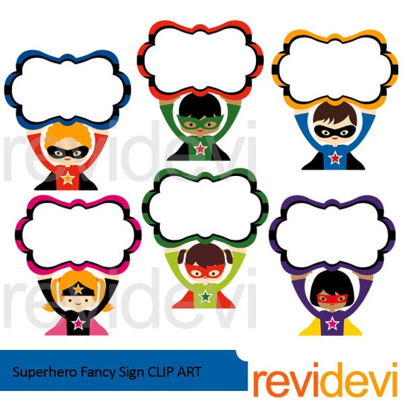 superhero clipart superhero fancy sign clip art cute rh etsy com funny clip art free images fancy clip art texas outline