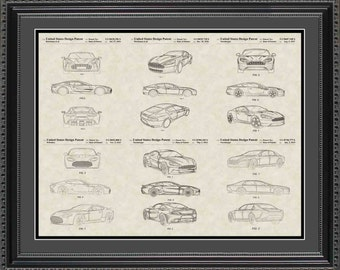 Aston-Martin Patent Collection Print Gift PASTN2024