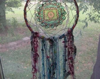 Native American Dreamcatcher, The Peace Sea, Feng Shui, Chakras, Energy Art, Balancing, Yoga, Meditation, Abundance, Peace Love Art
