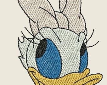 Embroidered DaisyDuck Iron On Patch