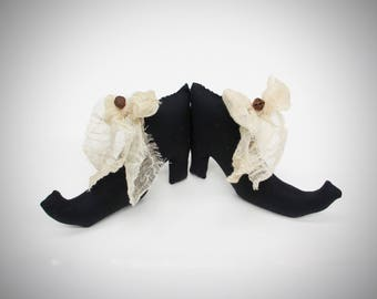 Black Witch Shoes | Halloween Decor | Halloween items | Witch Boot | Halloween props