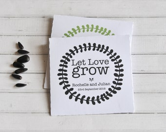 Let Love Grow, Seed Packet, Personalised Wedding Favor, Wedding Gift, Gift for Guests, Personalised Seed Packet, Wedding Seed Packet, Empty