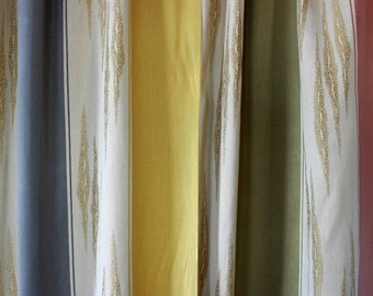 Original 50s curtain fabric, by the meter, dead stock
