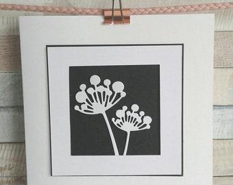 FLOWER CARD - Blank card - birthday card - Handmade card - Flower heads