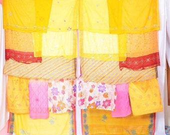 Bohemian Gypsy Curtain curtains boho curtains scarfs kantha sequins C151