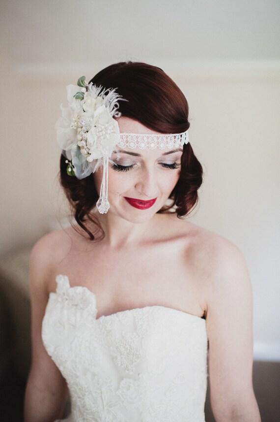 The MINI ALANA Headdress by Kat Swank- Custom Made Luxe Headband Headdress. Made with your custom colors, each piece OOAK.