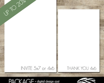 Professionally printed Invitations and Thank you cards (Discounted - UP TO 20% OFF)