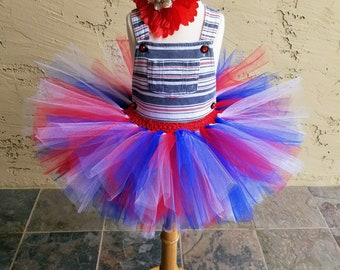 Little Girl or Baby Patriotic Fourth 4th of July Tutu Dress