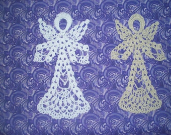 New Handmade Crochet Lady Angel, Suitable for Framing, Stiffen for Christmas Ornament, Applique on Pillow, Scrapbook Motif