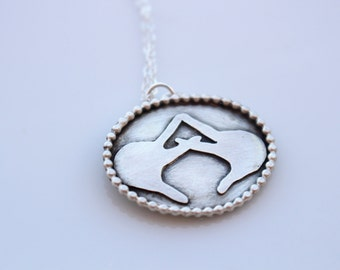 Alpha Chi Omega Necklace // Throw What You Know Necklace // AXO Hands Necklace // Alpha Chi Sorority Necklace