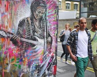 Jimi Hendrix Photography - Street Art Print - DON - Graffiti - Shoreditch