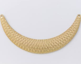98mm Matte Gold Textured Collar Pendant #MFA168