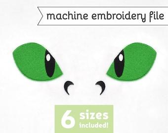 Dragon Eyes Machine Embroidery File Design for Plush Doll 6 Sizes