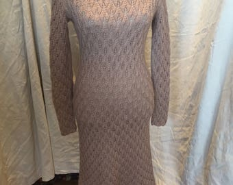 70s hand made knitted dress