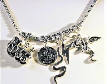 Harry Potter Inspired Charm Necklace #2  Handmade  OOAK