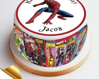 7.5' Diameter Icing Cake Topper - Spiderman