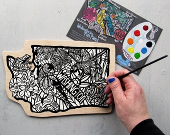 Washington State Painting Kit  - Paint Your Own Art Kit United States WA