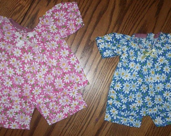 """A.G., 18"""" DOLL  2 piece SHORT OUTFIT .. Clearance .. Hand Made. Fits Preemies Too"""