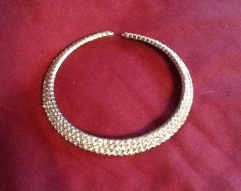 Rhinestone choker collar necklace