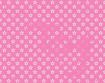 New Pricing White Stars on Pink Cardstock Paper
