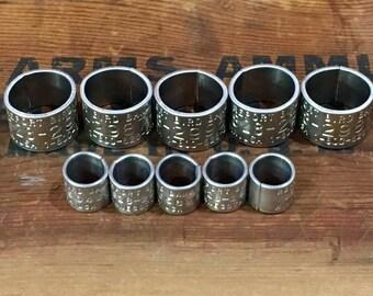 5 Goose Bands 5 Duck Bands / Bird Bands / Leg Bands / Waterfowl / Bracelet Supply II
