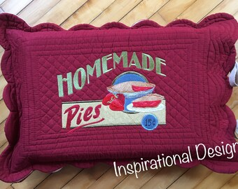 """Home made Pies"""" Dish carrier."""