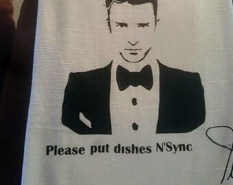 Justin Timberlake Dishes N'Sync Dishcloth