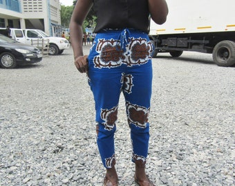 Ankara Pants, African Print Pants with string, Ankara Trousers