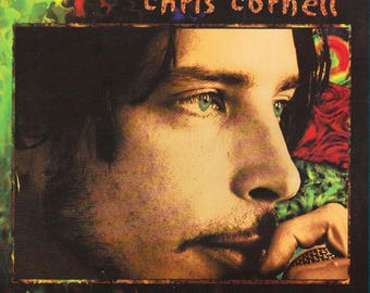 "Rare Original 90's CHRIS CORNELL Flutter Girl / Sunshower A&M Records Green Vinyl Press 7"" Promo Single MINT Soundgarden! Audioslave! R.I.P."