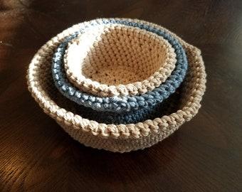 Crochet Nesting Storage Bowls