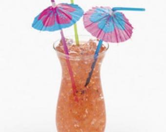 Hibiscus Parasol Straws