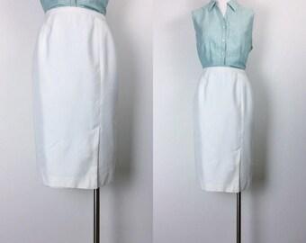 vintage silk skirt pencil skirt secretary skirt women' s size S/M