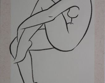 Female nude drawing 106