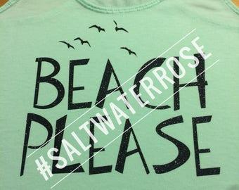 BEACH PLEASE custom beach shirt