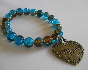 Crackle Aqua Blue