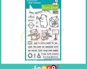 Lawn Fawn Clear Stamp Set - Critter Concert