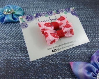 Sweet Kisses Bow Tie Hair Clip - Set of 2
