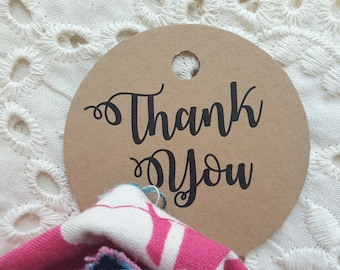 Printed Favor Tags | Thank You Tags  | Thank You | Printed Favor Tags | Thank You Belastoria COLLECTION - 180 Tags - Style T09