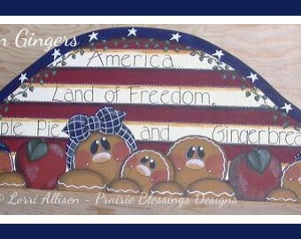 Americana Gingerbread painting pattern instant download